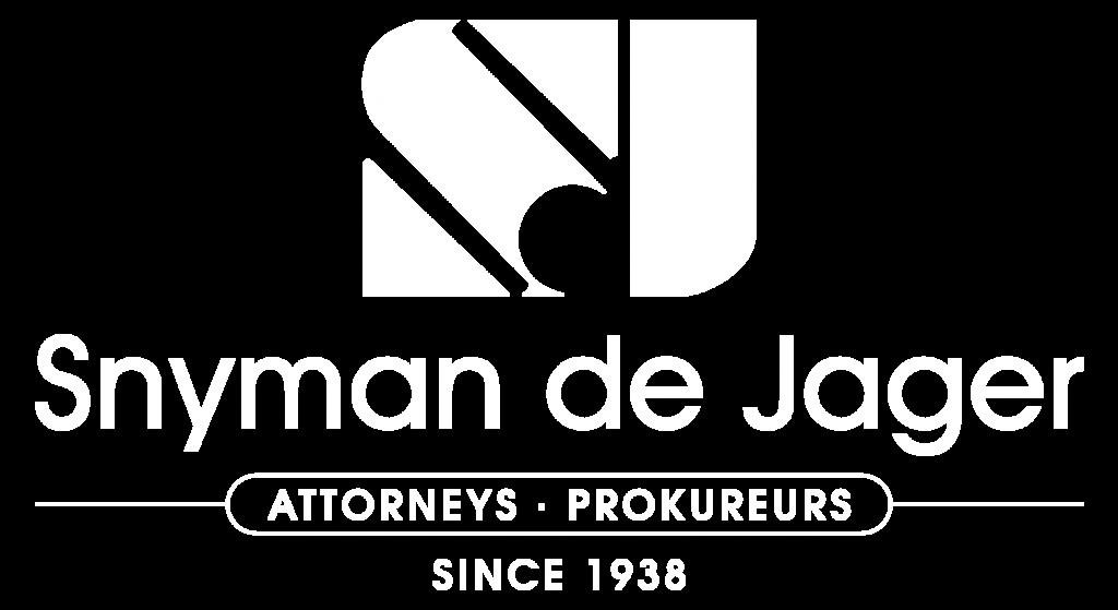 Snyman de Jager Logo White png